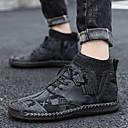baratos Sapatos Esportivos Masculinos-Homens Sapatos Confortáveis Couro Outono & inverno Botas Botas Curtas / Ankle Preto / Marron