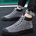 baratos Botas Masculinas-Homens Sapatos Confortáveis Pele Inverno Botas Botas Curtas / Ankle Preto / Marron / Cinzento