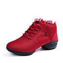Χαμηλού Κόστους Αθλητικά Χορού-Γυναικεία Παπούτσια Χορού Δίχτυ Δαντέλα μέχρι πάνω Αθλητικά Πυκνό τακούνι Εξατομικευμένο Παπούτσια Χορού Μαύρο / Κόκκινο / Επίδοση / Εξάσκηση