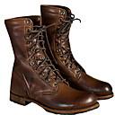 Χαμηλού Κόστους Αντρικές Μπότες-Ανδρικά Μπότες Μάχης PU Χειμώνας Μπότες Μπότες στη Μέση της Γάμπας Σκούρο καφέ