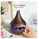 billige Vifte-300 ml usb elektrisk aroma luftspreder tre ultralyd luftfukter essensiell olje aromaterapi kjølig tåke maker for hjemmet