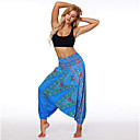 cheap Exercise, Fitness & Yoga Clothing-Women's Yoga Pants Harem 3D Print Light Blue Dark Blue Dance Fitness Gym Workout Bloomers Sport Activewear Breathable Quick Dry Soft Loose / Winter