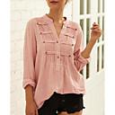billige Mote Boots-Skjorte Dame - Ensfarget Hvit