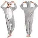 ราคาถูก ชุดนอน Kigurumi-ผู้ใหญ่ Kigurumi Pajama เมาส์ Onesie Pajama ผ้าสำลี สีเทา คอสเพลย์ สำหรับ ผู้ชายและผู้หญิง สัตว์ชุดนอน การ์ตูน Festival / Holiday เครื่องแต่งกาย