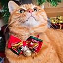 olcso Pet karácsonyi jelmezek-Kutyák Masnik Tél Kutyaruházat Piros Jelmez Polyster Hópehely Harang Szerepjáték Karácsony S M L XL