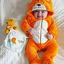 billige BabyGutterdrakter-Baby Gutt Grunnleggende Trykt mønster Langermet Endelt Gul