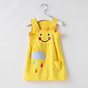 Χαμηλού Κόστους Φορέματα για κορίτσια-Παιδιά Νήπιο Κοριτσίστικα Γλυκός χαριτωμένο στυλ Κινούμενα σχέδια Αμάνικο Πάνω από το Γόνατο Φόρεμα Κίτρινο