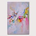 Χαμηλού Κόστους Αφηρημένοι Πίνακες-Hang-ζωγραφισμένα ελαιογραφία Ζωγραφισμένα στο χέρι - Αφηρημένο Αφηρημένο Τοπίο Μοντέρνα Περιλαμβάνει εσωτερικό πλαίσιο