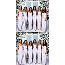 baratos Vestidos de Noite-Sereia Com Alças Finas Cauda Escova Microfibra Jersey Elegante Evento Formal Vestido 2020 com
