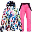 Χαμηλού Κόστους Ρούχα για σκι, σνόουμπορντ-ARCTIC QUEEN Γυναικεία Μπουφάν και παντελόνι για σκι Σκι Κατασκήνωση & Πεζοπορία Χειμερινά Αθήματα Αδιάβροχη Αντιανεμικό Ζεστό Πολυεστέρας Σακάκι Παντελόνια Ρούχα σύνολα Ενδυμασία σκι / Χειμώνας