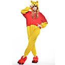 ราคาถูก วิกผมสังเคราะห์-ผู้ใหญ่ Kigurumi Pajama Bear รูปสัตว์ Onesie Pajama Polar Fleece สีเหลือง คอสเพลย์ สำหรับ ผู้ชายและผู้หญิง สัตว์ชุดนอน การ์ตูน Festival / Holiday เครื่องแต่งกาย