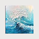 olcso Absztrakt festmények-Hang festett olajfestmény Kézzel festett - Absztrakt Modern Tartalmazza belső keret