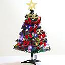olcso Karácsonyi dekoráció-60 cm-es kicsi karácsonyfa szett karácsonyi otthoni dekorációhoz kis karácsonyfát tartalmaz lámpákkal és kiegészítőkkel