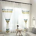 Χαμηλού Κόστους Διάφανες Κουρτίνες-Μοντέρνα Αποχρώσεις διάφανες κουρτίνες Two Panels Διαφανές / Υπνοδωμάτιο