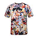 povoljno Anime kostimi-Inspirirana Dragon Ball Son Goku Anime Cosplay nošnje Japanski Cosplay majica Na točkice / Print Kratkih rukava T-majica Za Muškarci