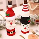 olcso Karácsonyi dekoráció-karácsonyi borosüveg dekoráció készlet Mikulás hóember szarvas palack borító ruhák konyha dekoráció újévi karácsony vacsora