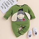 Χαμηλού Κόστους Σετ ρούχων για αγόρια-Μωρό Αγορίστικα Ενεργό / Βασικό Φανταστικά θηρία Στάμπα Κεντητό Μακρυμάνικο Ολόσωμη Φόρμα & Φόρμες Πράσινο του τριφυλλιού