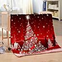 baratos Cobertores e Mantas-Bola de natal impressão digital espessada cobertor infantil de flanela quente para o outono / inverno