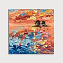 Недорогие Абстрактные картины-Hang-роспись маслом Ручная роспись - Абстракция Modern Включите внутренний каркас