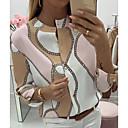 Χαμηλού Κόστους Ψεύτικα Λουλούδια-Γυναικεία Μπλούζα Γεωμετρικό Ανθισμένο Ροζ