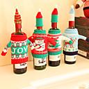 ราคาถูก อุปกรณ์เสริมไวน์-ชุดตกแต่งคริสต์มาสของขวดไวน์แดงครัว santa sacks
