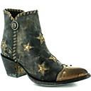 olcso Női csizmák-Női Csizmák Cowboy / Western Boots Vaskosabb sarok Erősített lábujj PU Bokacsizmák Ősz & tél Barna