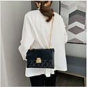 olcso Keresztpántos táskák-Női Műbőr / PU Vállon átvetős táska Tömör szín Fekete / Fehér / Rubin