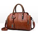 ราคาถูก กระเป๋า Totes-สำหรับผู้หญิง เลื่อม PU กระเป๋าถือยอดนิยม สีทึบ สีดำ / สีน้ำตาล / สีม่วงอ่อน