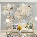 cheap Wall Murals-Wallpaper / Mural / Wall Cloth Canvas Wall Covering - Adhesive required Art Deco / Pattern / Cartoon