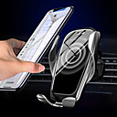 billiga Solskydd och -skärmar till bilen-x5 ny version automatisk fastspänning trådlös billaddning bilhållarstativ qi snabbladdningsstativ för samsung s10 / 10 s9 s8 note9 iphone 11 xs xr