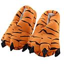 ราคาถูก เสื้อผ้าสำหรับสุนัข-ผู้ใหญ่ Kigurumi Slippers Tiger รูปสัตว์ Onesie Pajama เส้นใยสังเคราะห์ ฝ้าย ส้ม คอสเพลย์ สำหรับ ผู้ชายและผู้หญิง สัตว์ชุดนอน การ์ตูน Festival / Holiday เครื่องแต่งกาย / รองเท้า
