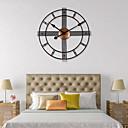 povoljno Zidni satovi-3D kružni retro rimsko kovano šuplje željezo vintage veliki muti ukrasni zidni sat na zidnoj dekoraciji za dom