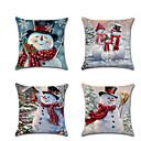 Χαμηλού Κόστους Μαξιλαροθήκες-4 τεμ μαξιλάρι μαξιλάρι κάλυψη, διακοπές νιφάδα χιονιού γελοιογραφία Χριστούγεννα ρίξει μαξιλάρι
