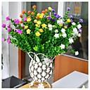 billige Kunstige blomster & Vaser-7 gaffelsimulering liten lotus plante vegg hagearbeid dekorasjon blomst