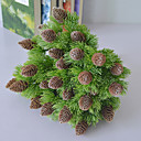 billiga Konstgjorda växter-7 gafflar högkvalitativ realistisk hem- dekoration för blom- och cypresssimulering