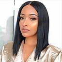 Χαμηλού Κόστους Περούκες από Ανθρώπινη Τρίχα-Φυσικά μαλλιά 13x6 Κούμπωμα Περούκα Βαθιά διαίρεση στυλ Βραζιλιάνικη Φυσικό ευθεία Φυσικό Περούκα 150% Πυκνότητα μαλλιών Ομαλό Γυναικεία Η καλύτερη ποιότητα Hot Πώληση Άνετο Γυναικεία Κοντό
