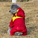 billiga Hundkläder-Katt Hund Kappor Huvtröjor Jumpsuits Vinter Hundkläder Gul Grön Röd Kostym Cotton Färgblock Håller värmen Mode XS S M L XL XXL