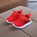 Χαμηλού Κόστους LED Παπούτσια-Αγορίστικα LED / Ανατομικό / Φωτιζόμενα παπούτσια Σουέτ / Δίχτυ Αθλητικά Παπούτσια Νήπιο (9m-4ys) / Τα μικρά παιδιά (4-7ys) Πλεκτό Λουράκι / Διαφορετικά Υφάσματα / LED Μαύρο / Λευκό / Κόκκινο