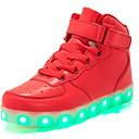 billige LED Sko-Jente LED / Komfort PU Treningssko Små barn (4-7år) Løp Svart / Hvit / Gull Vinter