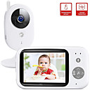 billige Baby Monitorer-didseth trådløs videofarge babymonitor pal ntsc 352 x 240 ip kamera med 3,2 tommer LCD ir kamera 2 veis lydprat nattsyn overvåkning sikkerhet kamera