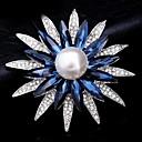 Χαμηλού Κόστους Αντρικά Αξεσουάρ-Γυναικεία Cubic Zirconia Καρφίτσες Κλασσικό Flower Shape Κλασσικό Βασικό Καρφίτσα Κοσμήματα Κόκκινο / Μπλε Ασημί Μπλε Για Πάρτι Αποφοίτηση Δώρο Καθημερινά Φεστιβάλ
