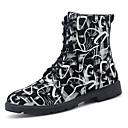 Χαμηλού Κόστους Αντρικές Μπότες-Ανδρικά Μπότες Μάχης PU Φθινόπωρο & Χειμώνας Καθημερινό Μπότες Μη ολίσθηση Μπότες στη Μέση της Γάμπας Μαύρο / Μαύρο και Άσπρο