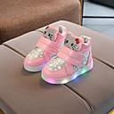 billige LED Sko-Jente LED / Komfort / Lysende sko PU Treningssko Toddler (9m-4ys) / Små barn (4-7år) Gummi / Kombinasjon / LED Vin / Hvit / Rosa Vår / Høst