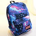 Χαμηλού Κόστους Σχολικές τσάντες-Γιούνισεξ Σχέδιο / Στάμπα Καμβάς Σχολική τσάντα σακκίδιο Αστέρια Ανθισμένο Ροζ / Σκούρο μπλε