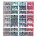 povoljno Pohrana i organizacija-4pcs kutija za cipele zadebljana prozirna kutija za pohranu cipela može se složiti u kombinaciji organizatora za cipele