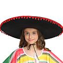 ราคาถูก ชุดพื้นบ้าน ชุดท้องถิ่น-สำหรับเด็ก เด็กผู้หญิง สไตล์น่ารัก Mexico หมวก สำหรับ ปาร์ตี้ Halloween Straw Rope วันฮาโลวีน เทศกาลคานาวาล เสื้อผ้าที่สวมไปงานเต้นรำสวมหน้ากาก หมวก