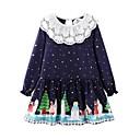 Χαμηλού Κόστους Φορέματα για κορίτσια-Παιδιά Κοριτσίστικα Πουά Χριστούγεννα Φόρεμα Βαθυγάλαζο