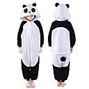 ราคาถูก ชุดนอน Kigurumi-สำหรับเด็ก Kigurumi Pajama Panda รูปสัตว์ Onesie Pajama Polar Fleece สีดำ คอสเพลย์ สำหรับ เด็กชายและเด็กหญิง สัตว์ชุดนอน การ์ตูน Festival / Holiday เครื่องแต่งกาย