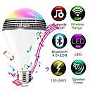 Χαμηλού Κόστους Έξυπνες LED Λάμπες-wifi έξυπνο rgb e27 λάμπα bluetooth 4.0 ακουστικά ηχεία λαμπτήρας dimmable οδήγησε ασύρματο μουσικό λαμπτήρα φως αλλαγή χρώματος μέσω wifi ελέγχου εφαρμογών