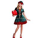ราคาถูก ชุดซานตา&เดรสคริสต์มาส-ต้นคริสต์มาส หนึ่งชิ้น ชุดเดรส สำหรับผู้หญิง ผู้ใหญ่ พรรค Costume Party คริสมาสต์ วันคริสต์มาส เส้นใยสังเคราะห์ Top / เข็มขัด / หมวก